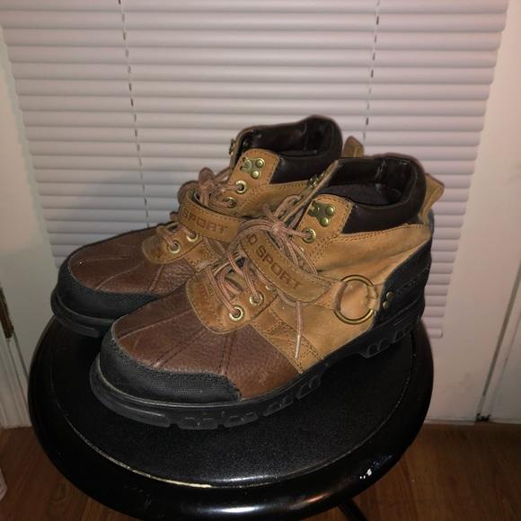 Polo Sport Leather Rain Boots
